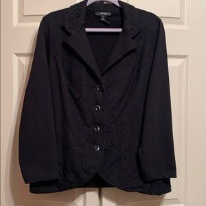 Style & Co Jackets & Coats - Black lace button up blazer size 2x from Style co